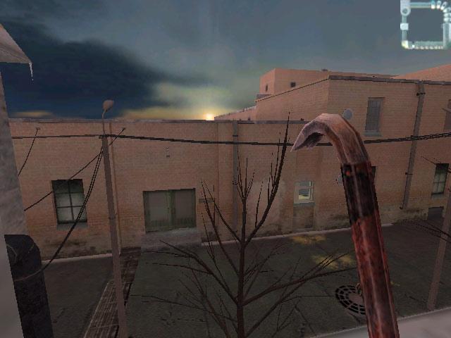 Закат над крышами клиники